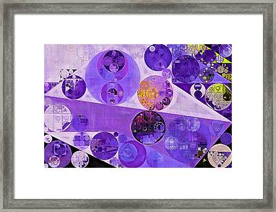Abstract Painting - Blackcurrant Framed Print