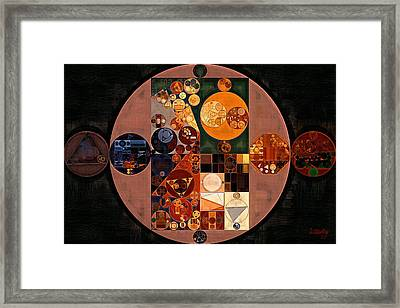 Abstract Painting - Brandy Punch Framed Print