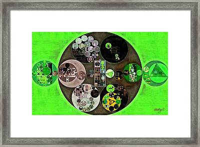 Abstract Painting - Bright Green Framed Print