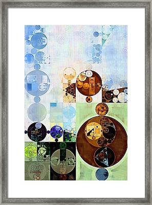 Abstract Painting - Brown Pod Framed Print