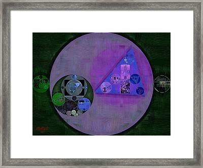 Abstract Painting - Butterfly Bush Framed Print