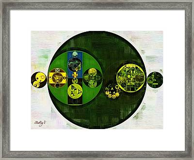 Abstract Painting - Cardin Green Framed Print by Vitaliy Gladkiy