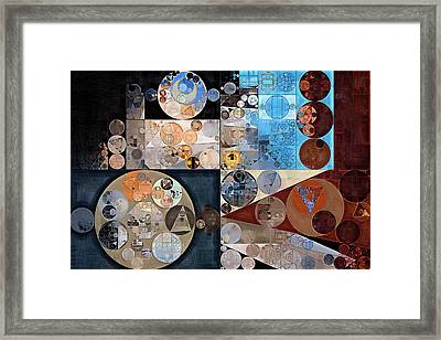 Abstract Painting - Casper Framed Print by Vitaliy Gladkiy