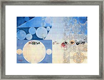 Abstract Painting - Catalina Blue Framed Print