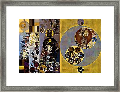 Abstract Painting - Cement Framed Print