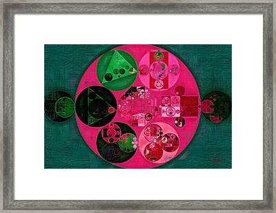Abstract Painting - Cerise Framed Print by Vitaliy Gladkiy