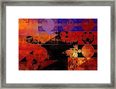 Abstract Painting - Chilean Fire Framed Print