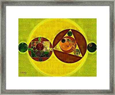 Abstract Painting - Citrine Framed Print