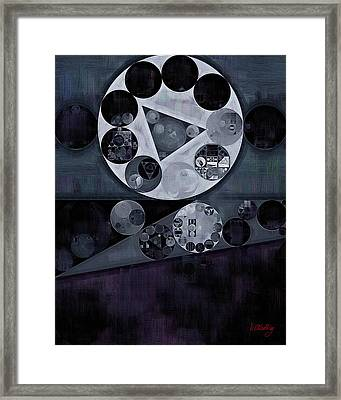 Abstract Painting - Cloud Burst Framed Print