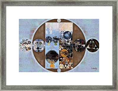 Abstract Painting - Cola Framed Print