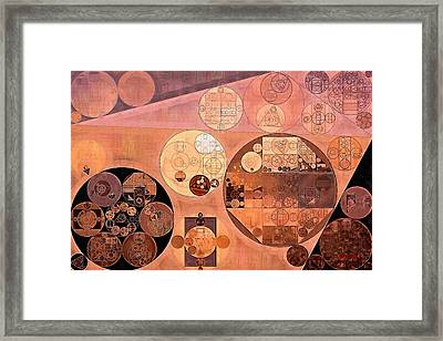 Abstract Painting - Copper Rust Framed Print