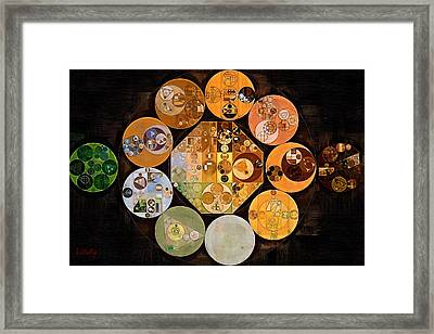 Abstract Painting - Copper Framed Print by Vitaliy Gladkiy