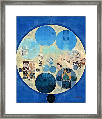 Abstract Painting - Curious Blue Framed Print by Vitaliy Gladkiy