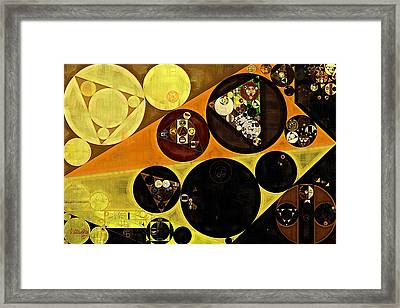 Abstract Painting - Dark Goldenrod Framed Print