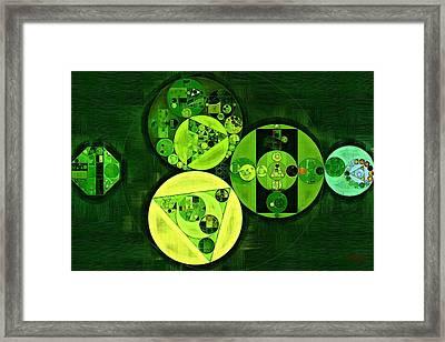 Abstract Painting - Dark Green Framed Print by Vitaliy Gladkiy