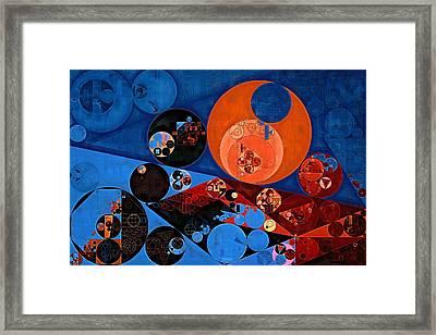 Abstract Painting - Dark Midnight Blue Framed Print by Vitaliy Gladkiy