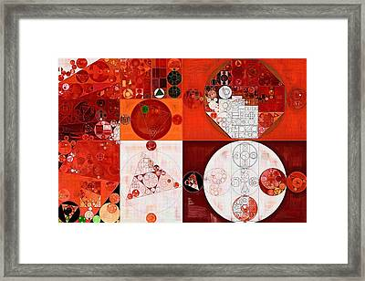 Abstract Painting - Dark Pastel Red Framed Print by Vitaliy Gladkiy