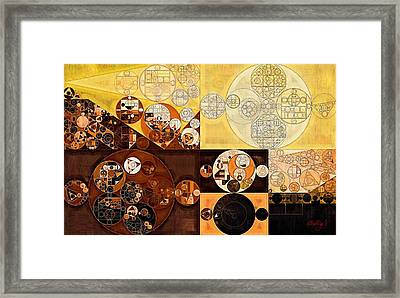 Abstract Painting - Dark Sienna Framed Print
