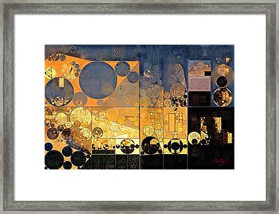 Abstract Painting - Davy Grey Framed Print