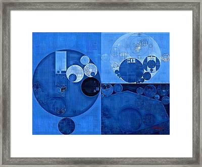 Abstract Painting - Denim Framed Print
