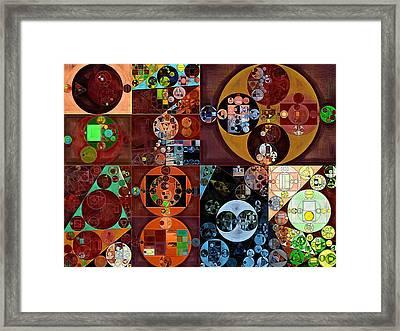 Abstract Painting - Desert Framed Print by Vitaliy Gladkiy
