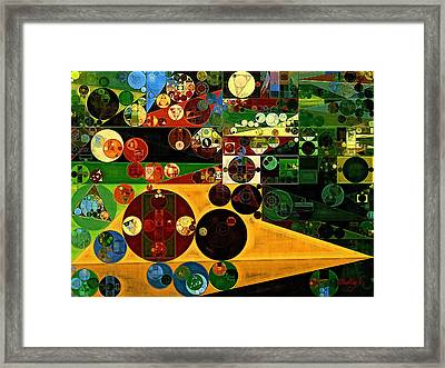 Abstract Painting - Dingley Framed Print by Vitaliy Gladkiy