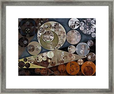 Abstract Painting - Domino Framed Print by Vitaliy Gladkiy