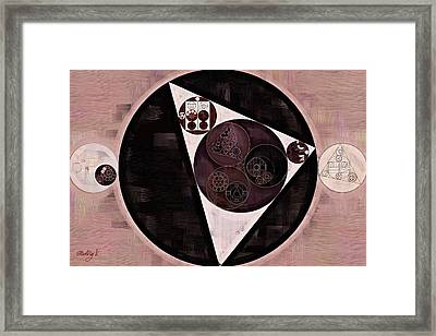 Abstract Painting - Dust Storm Framed Print