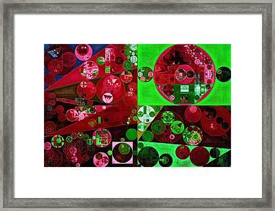 Abstract Painting - Emerald Framed Print by Vitaliy Gladkiy