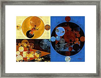 Abstract Painting - Equator Framed Print