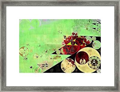 Abstract Painting - Feijoa Framed Print by Vitaliy Gladkiy