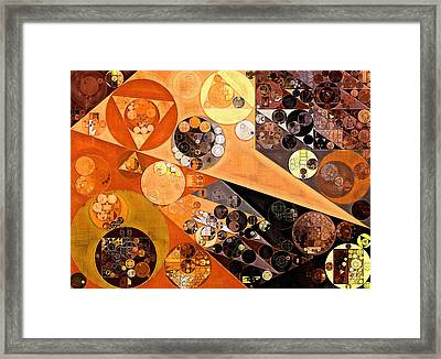 Abstract Painting - Fiery Orange Framed Print by Vitaliy Gladkiy