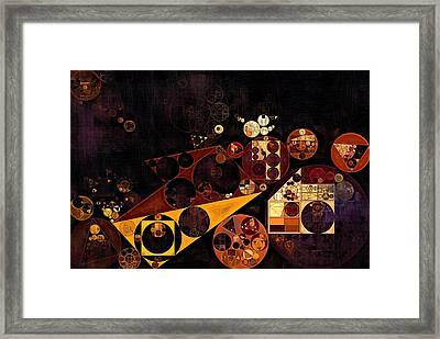 Framed Print featuring the digital art Abstract Painting - Fire Bush by Vitaliy Gladkiy