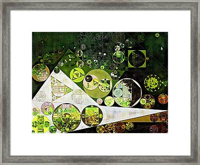 Abstract Painting - Frost Framed Print