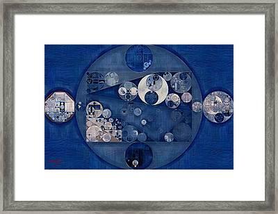 Abstract Painting - Fun Blue Framed Print by Vitaliy Gladkiy