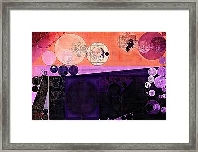 Abstract Painting - Fuzzy Wuzzy Framed Print