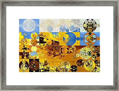 Abstract Painting - Galliano Framed Print