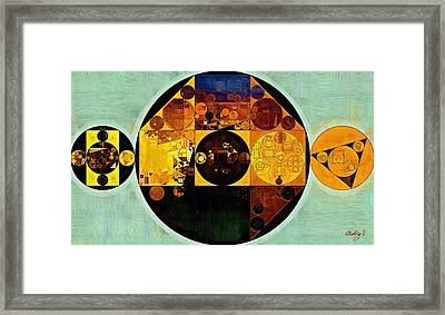 Abstract Painting - Gamboge Framed Print