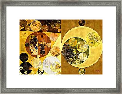 Framed Print featuring the digital art Abstract Painting - Golden Brown by Vitaliy Gladkiy