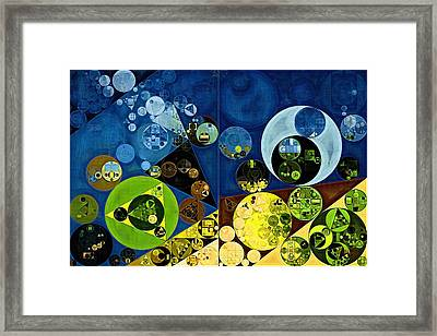 Abstract Painting - Goldenrod Framed Print