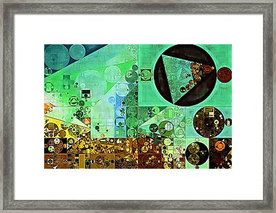 Abstract Painting - Granny Smith Apple Framed Print by Vitaliy Gladkiy