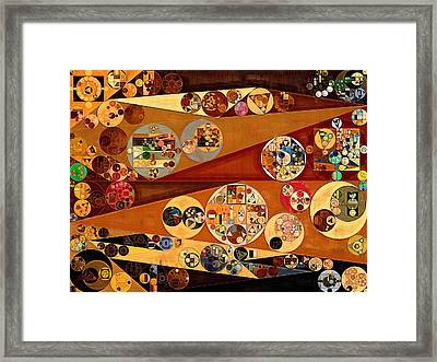 Abstract Painting - Harvest Gold Framed Print by Vitaliy Gladkiy