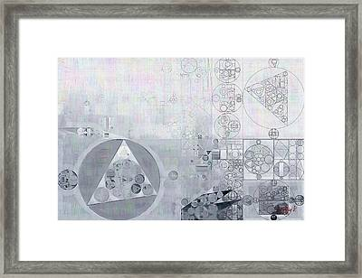 Abstract Painting - Hit Grey Framed Print