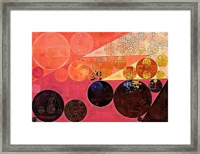 Abstract Painting - Hit Pink Framed Print