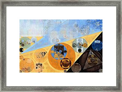 Abstract Painting - Indian Yellow Framed Print