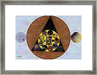 Abstract Painting - Iron Framed Print by Vitaliy Gladkiy