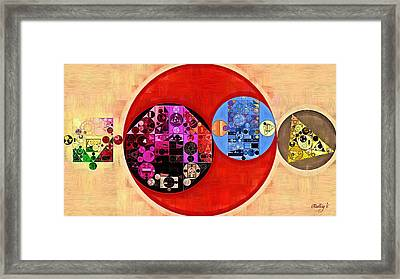 Abstract Painting - Just Right Framed Print by Vitaliy Gladkiy