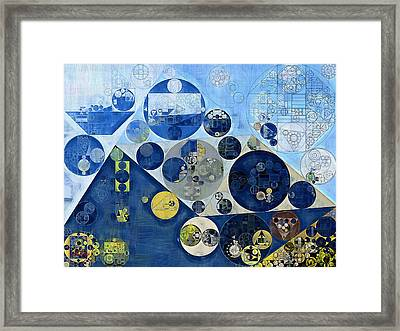 Abstract Painting - Kashmir Blue Framed Print