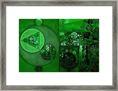 Abstract Painting - La Salle Green Framed Print by Vitaliy Gladkiy