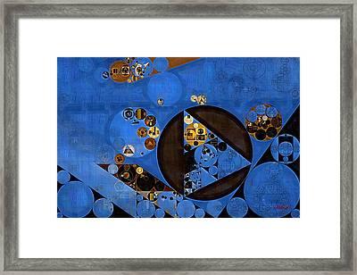 Abstract Painting - Lapis Lazuli Framed Print by Vitaliy Gladkiy